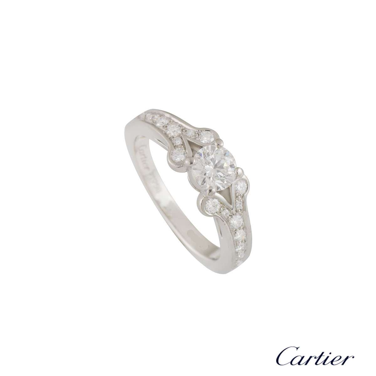 Cartier Platinum Diamond Ballerine Ring 0.53ct G/VS1 XXX N4196951